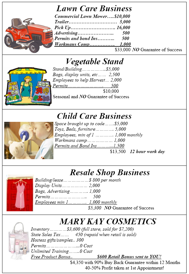 Comparing Mary Kay To Other Small Businesses Pink Truth