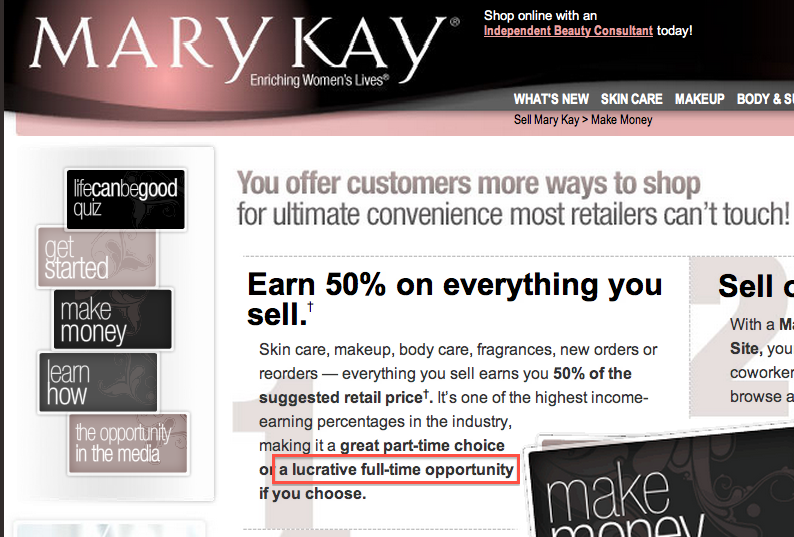 Women Join Mary Kay Just to Make a Little Extra Money