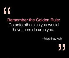 Mary Kay Lies: The Golden Rule