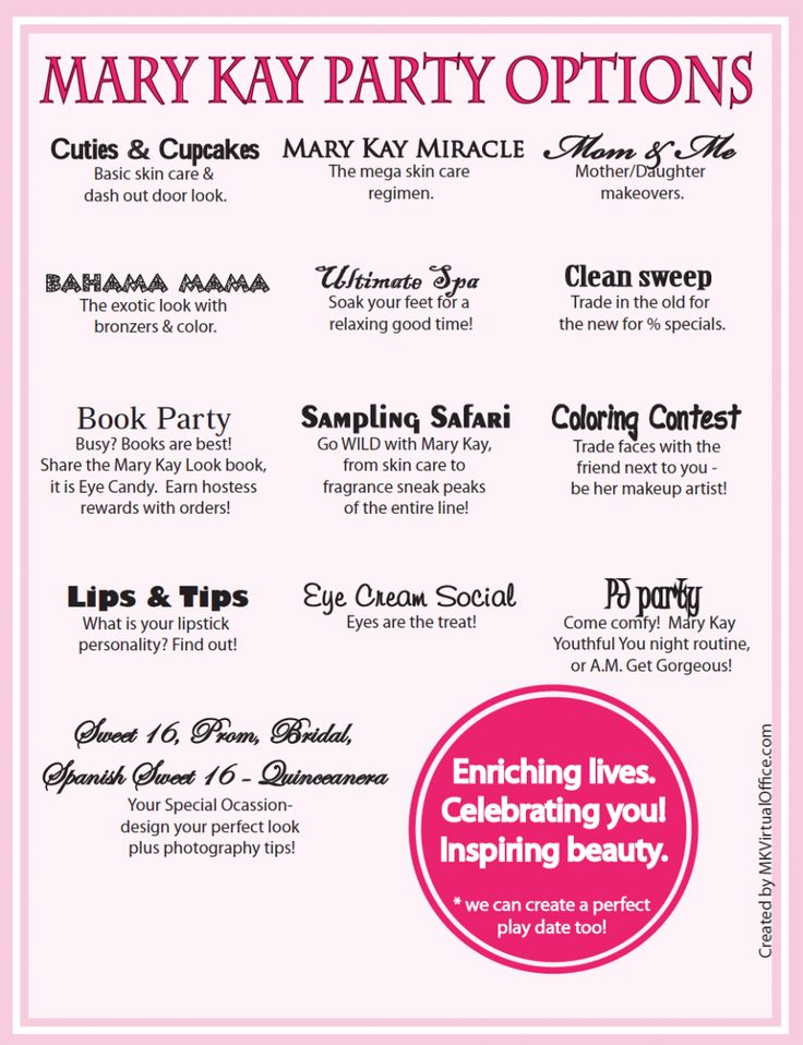 Mary Kay Debut Party Ideas Unique Birthday Party Ideas And Themes