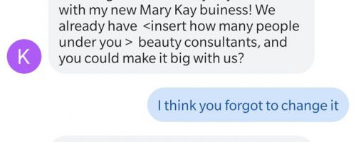 Mary Kay Recruiting with Text Messages