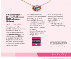 Mary Kay Seminar Attendance Challenge
